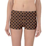 CIRCLES3 BLACK MARBLE & RUSTED METAL (R) Reversible Boyleg Bikini Bottoms