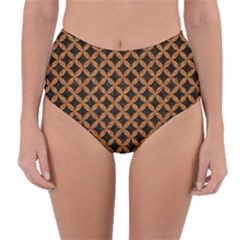 Circles3 Black Marble & Rusted Metal (r) Reversible High Waist Bikini Bottoms