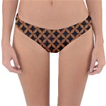 CIRCLES3 BLACK MARBLE & RUSTED METAL (R) Reversible Hipster Bikini Bottoms