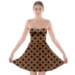 CIRCLES3 BLACK MARBLE & RUSTED METAL (R) Strapless Bra Top Dress