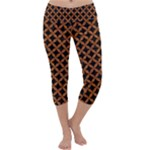 CIRCLES3 BLACK MARBLE & RUSTED METAL (R) Capri Yoga Leggings