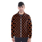 CIRCLES3 BLACK MARBLE & RUSTED METAL (R) Wind Breaker (Men)