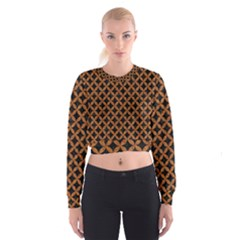 CIRCLES3 BLACK MARBLE & RUSTED METAL (R) Cropped Sweatshirt