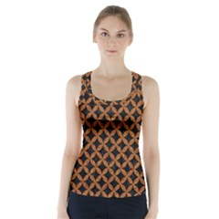 CIRCLES3 BLACK MARBLE & RUSTED METAL (R) Racer Back Sports Top