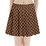 CIRCLES3 BLACK MARBLE & RUSTED METAL (R) Pleated Mini Skirt