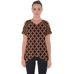 CIRCLES3 BLACK MARBLE & RUSTED METAL (R) Cut Out Side Drop Tee