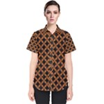CIRCLES3 BLACK MARBLE & RUSTED METAL (R) Women s Short Sleeve Shirt