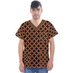 CIRCLES3 BLACK MARBLE & RUSTED METAL (R) Men s V-Neck Scrub Top
