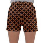 CIRCLES3 BLACK MARBLE & RUSTED METAL (R) Sleepwear Shorts