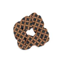 CIRCLES3 BLACK MARBLE & RUSTED METAL (R) Velvet Scrunchie