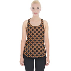 CIRCLES3 BLACK MARBLE & RUSTED METAL (R) Piece Up Tank Top