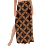 CIRCLES3 BLACK MARBLE & RUSTED METAL (R) Maxi Chiffon Tie-Up Sarong