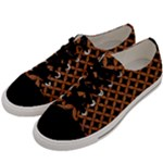 CIRCLES3 BLACK MARBLE & RUSTED METAL (R) Men s Low Top Canvas Sneakers