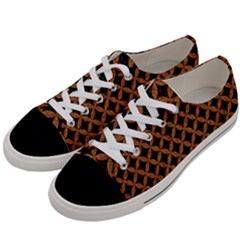 CIRCLES3 BLACK MARBLE & RUSTED METAL (R) Women s Low Top Canvas Sneakers