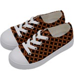 CIRCLES3 BLACK MARBLE & RUSTED METAL (R) Kids  Low Top Canvas Sneakers