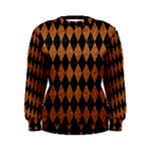 DIAMOND1 BLACK MARBLE & RUSTED METAL Women s Sweatshirt