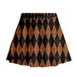DIAMOND1 BLACK MARBLE & RUSTED METAL Mini Flare Skirt