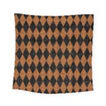 DIAMOND1 BLACK MARBLE & RUSTED METAL Square Tapestry (Small)