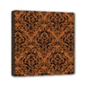 DAMASK1 BLACK MARBLE & RUSTED METAL Mini Canvas 6  x 6  View1