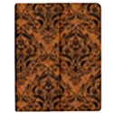 DAMASK1 BLACK MARBLE & RUSTED METAL Apple iPad Mini Flip Case View1