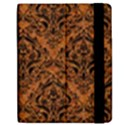 DAMASK1 BLACK MARBLE & RUSTED METAL Apple iPad Mini Flip Case View2