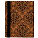 DAMASK1 BLACK MARBLE & RUSTED METAL Apple iPad Mini Flip Case View3