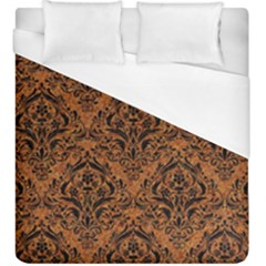 Damask1 Black Marble & Rusted Metal Duvet Cover (king Size) by trendistuff