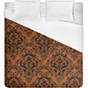 DAMASK1 BLACK MARBLE & RUSTED METAL Duvet Cover (King Size) View1