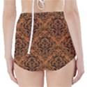 DAMASK1 BLACK MARBLE & RUSTED METAL High-Waisted Bikini Bottoms View2
