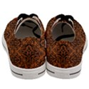 DAMASK1 BLACK MARBLE & RUSTED METAL Men s Low Top Canvas Sneakers View4