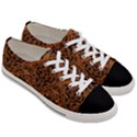 DAMASK1 BLACK MARBLE & RUSTED METAL Women s Low Top Canvas Sneakers View3