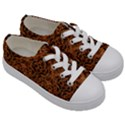 DAMASK1 BLACK MARBLE & RUSTED METAL Kids  Low Top Canvas Sneakers View3