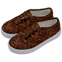 DAMASK1 BLACK MARBLE & RUSTED METAL Kids  Classic Low Top Sneakers View2