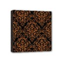 DAMASK1 BLACK MARBLE & RUSTED METAL (R) Mini Canvas 4  x 4  View1