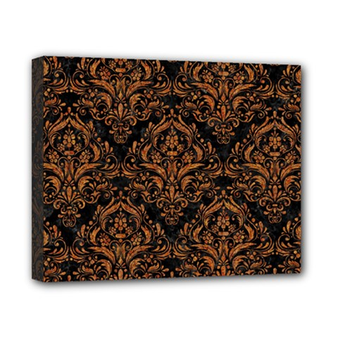 Damask1 Black Marble & Rusted Metal (r) Canvas 10  X 8