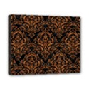 DAMASK1 BLACK MARBLE & RUSTED METAL (R) Canvas 10  x 8  View1