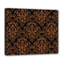DAMASK1 BLACK MARBLE & RUSTED METAL (R) Deluxe Canvas 24  x 20   View1