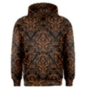 DAMASK1 BLACK MARBLE & RUSTED METAL (R) Men s Pullover Hoodie View1