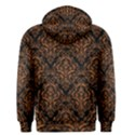 DAMASK1 BLACK MARBLE & RUSTED METAL (R) Men s Pullover Hoodie View2