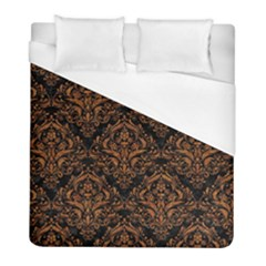 Damask1 Black Marble & Rusted Metal (r) Duvet Cover (full/ Double Size) by trendistuff