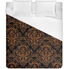 Damask1 Black Marble & Rusted Metal (r) Duvet Cover (california King Size) by trendistuff