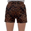 DAMASK1 BLACK MARBLE & RUSTED METAL (R) Sleepwear Shorts View1