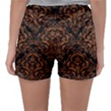 DAMASK1 BLACK MARBLE & RUSTED METAL (R) Sleepwear Shorts View2