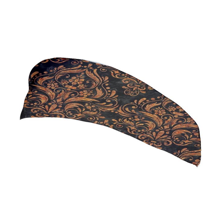 DAMASK1 BLACK MARBLE & RUSTED METAL (R) Stretchable Headband