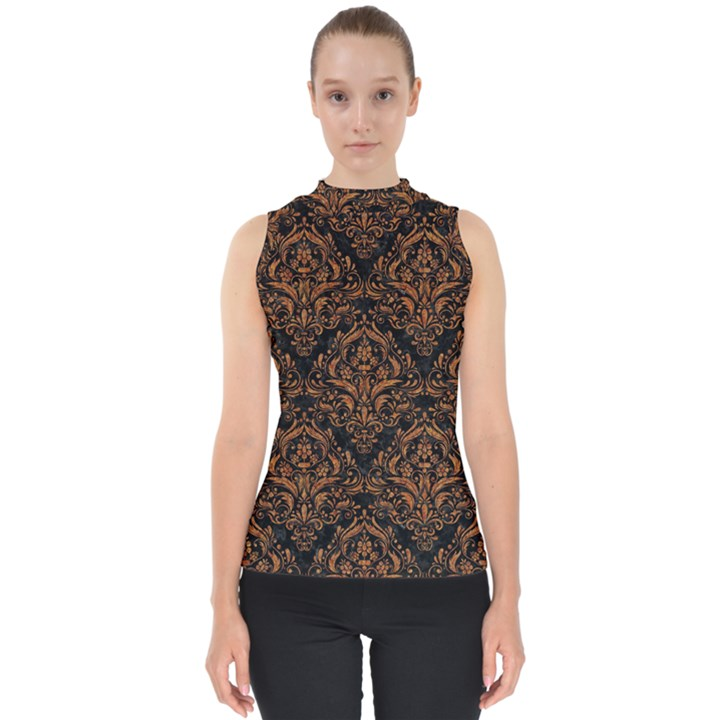 DAMASK1 BLACK MARBLE & RUSTED METAL (R) Shell Top