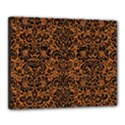 DAMASK2 BLACK MARBLE & RUSTED METAL Canvas 20  x 16  View1