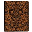 DAMASK2 BLACK MARBLE & RUSTED METAL Apple iPad 3/4 Flip Case View1