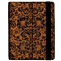 DAMASK2 BLACK MARBLE & RUSTED METAL Apple iPad 3/4 Flip Case View2