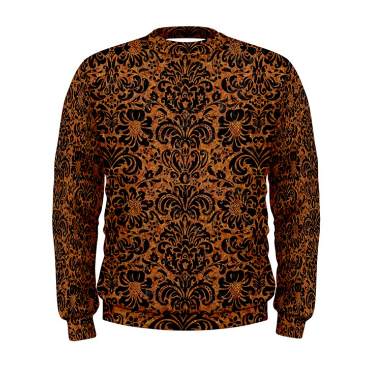 DAMASK2 BLACK MARBLE & RUSTED METAL Men s Sweatshirt