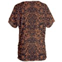 DAMASK2 BLACK MARBLE & RUSTED METAL Women s Oversized Tee View2